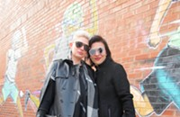A fashion-forward couple celebrates their 'leather year'