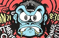 That monkey's snapback is too tight on the gig poster of the week