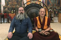 Buddhist teacher Lama Lobsang Palden and local multi-instrumentalist Jim Becker partner to make healing sounds
