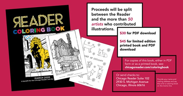 - Reader Coloring Book Available To Benefit Paper, Artists Announcements  Chicago Reader