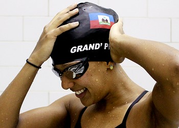 Olympic swimmer Naomy Grand'Pierre's ambitions go beyond her own times