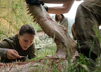<i>Annihilation</i> preserves the source novel's biological nightmare but dispenses with its mounting paranoia
