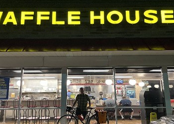 An epic bicycle ride across Indiana to Chicago's nearest Waffle House