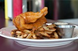 The fish-and-chips features delicate, flaky fillets. - ANDREA BAUER
