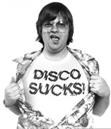 Copy photo of the Disco Demolition promotion from WLUP - PAUL NATKIN