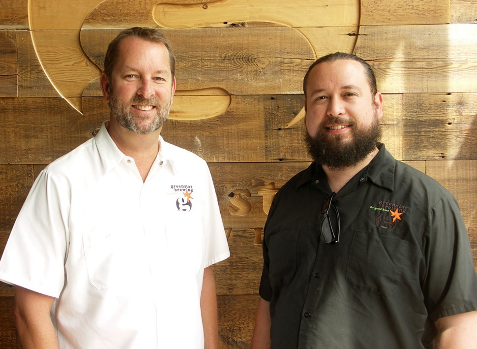 Uncommon Ground co-owner Michael Cameron and Greenstar brewmaster Martin Coad