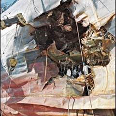 USS Cole after bombing