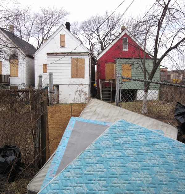 Vacant Houses. Roosevelt and Rockwell, February. By Katherine Hodges, 36, Humboldt Park. - KATHERINE HODGES