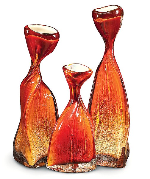 Vases by the Christopher Mosey Glass Studio (see One of a Kind Show and Sale)