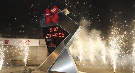 Was this London Olympic countdown clock even working?