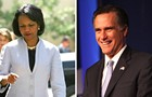 Talk about strange marriages: Condoleezza Rice and Mitt Romney!