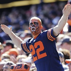 You don't see this Bears fan panicking, do you?