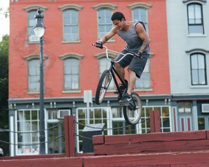 A BMX Rider in Kingston
