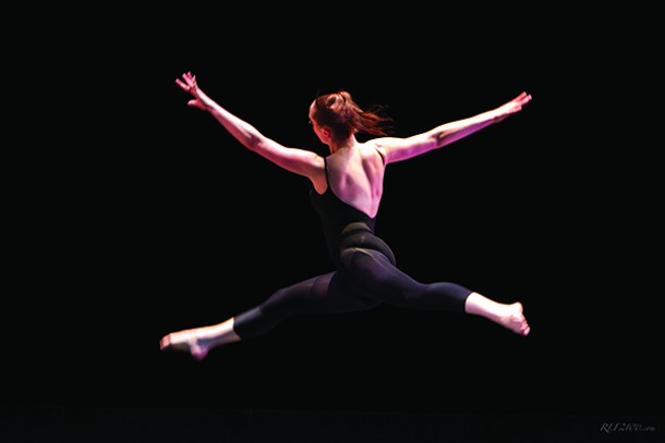A dancer from the Poughkeepsie City Ballet.