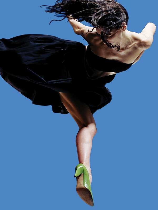 A member of the Stephen Petronio Company, one of the participants of the 2013 Hudson Valley Dance Festival. - SARAH SILVER