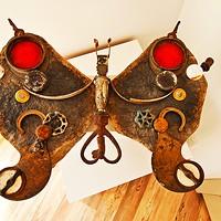 The Umbrella House A metal butterfly made by Davidson. Deborah DeGraffenreid