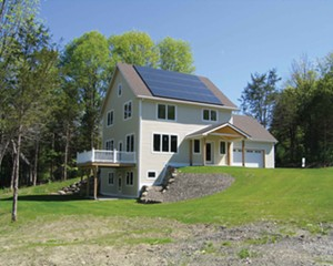 A net-zero energy home at the Green Acres development in New Paltz.