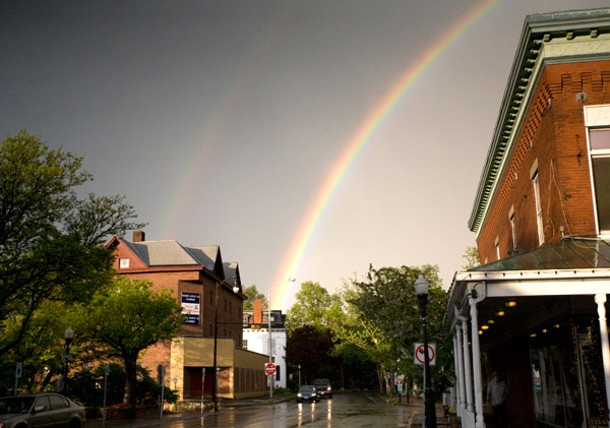 A rainbow in Kingston. - ERIC FRANCIS COPPOLINO