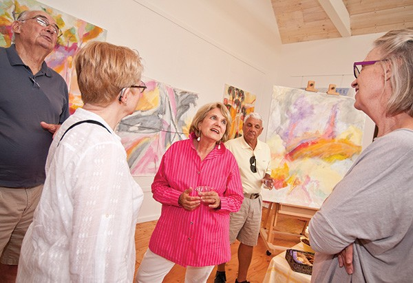 A recent opening at Roth's studio. - DEBORAH DEGRAFFENREID