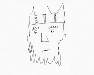 A sketch of King Aethelred by Richard Wilson.