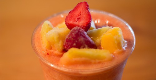 A smoothie from Sissys Cafe on Wall Street