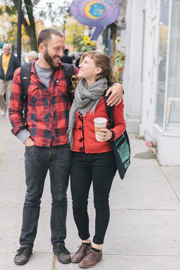 A walk along Warren Street. Eli and Kaya. - THOMAS PINE.