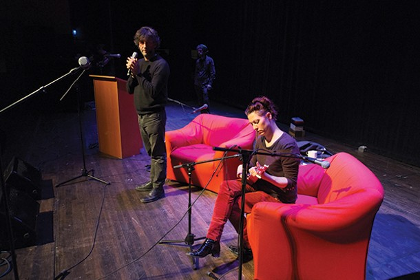 """""""An Evening with Neil Gaiman and Amanda Palmer"""" at Bard College on April 6."""