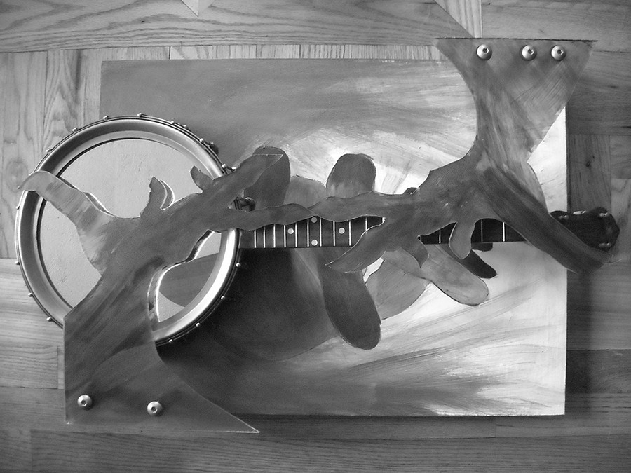 An untitled work (incorporating a banjo) by Jean Tansey