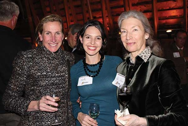 Ann Anthony, Kate Perna, and Felicitas Thorne at an event hosted by the Center for the Prevention of Child Abuse at Millbrook Vineyard and Winery on November 29. - DANA GAVIN