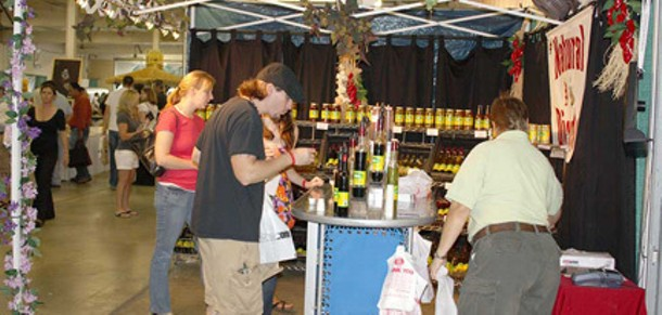 At the 2009 Hudson Valley Wine & Food Fest.