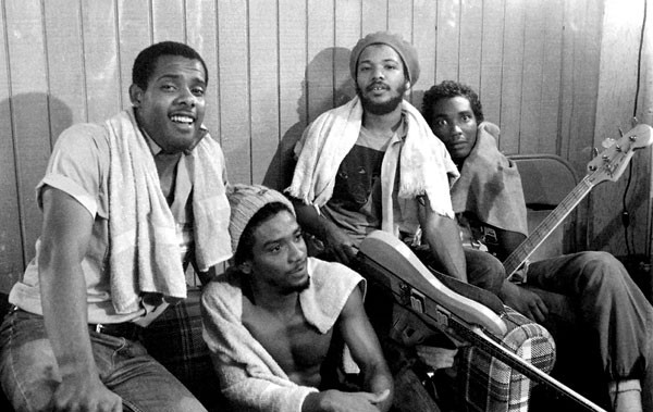 Bad Brains hanging out backstage circa 1979.