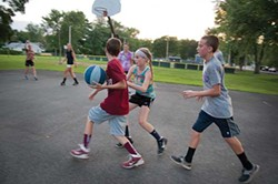 Basketball at Cantine Park in Saugerties.