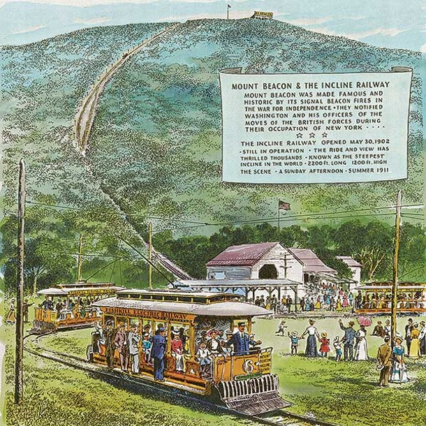 Beacon Incline Railway, 1972 - JOHN GOULD
