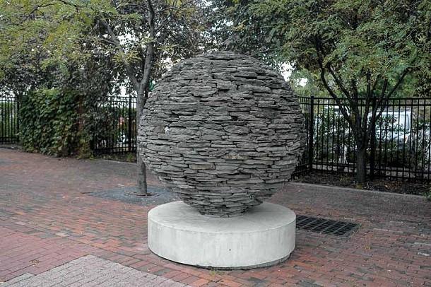 Beehive sculpture on Main Street, Poughkeepsie - DAVID MORRIS CUNNINGHAM
