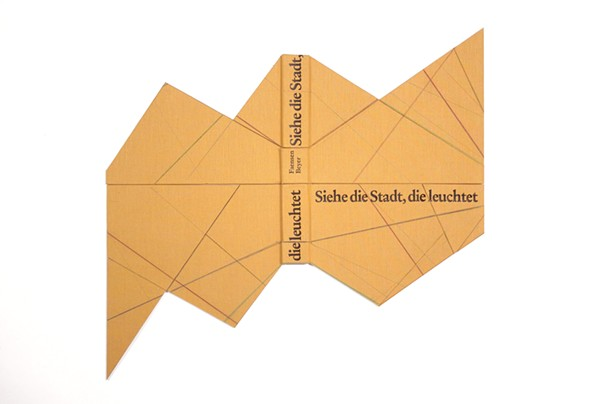 Björn Meyer-Ebrecht, Untitled (Siehe die Stadt, die leuchtet), 2012, found book cover mounted on museum board, 18 1/2 x 19 3/4 in.