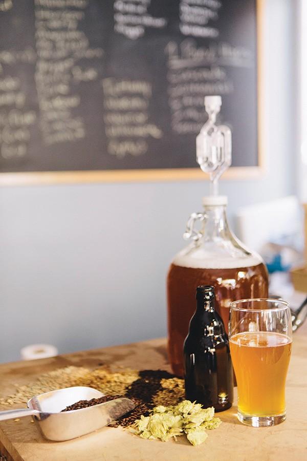 Brewer's supplies at Beacon Home Brew. - THOMAS SMITH