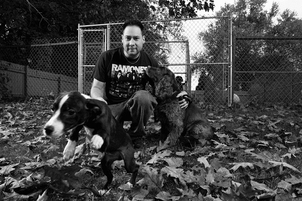 Brian Shapiro at the Ulster County SPCA in 2008.