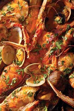 Brodette di pesce from Italian Cooking at Home.