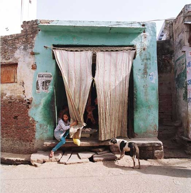 """Butcher Shop, Agra, India, 2011. From Charlie Grosso's series """"Wok the Dog."""""""