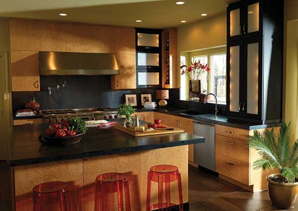 Cabinets by Plain & Fancy Custom Cabinetry, a line carried by Cabinet Designers in Kingston.