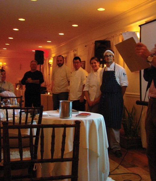 Chefs competing in Iron Grad II: The Return at the Rhinecliff Hotel on November 16. - BETTY  GREENWALD