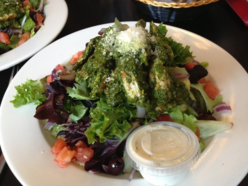 Chicken Pesto Salad at Slices in Saugerties