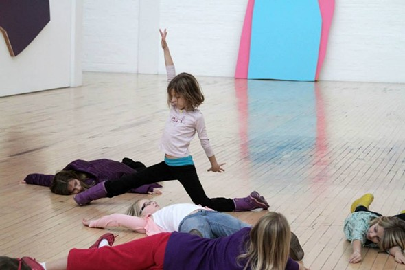 Children participate in an interactive program at Dia:Beacon's Community Free Day on January 11th, 2014 - ERIN GOLDBERGER