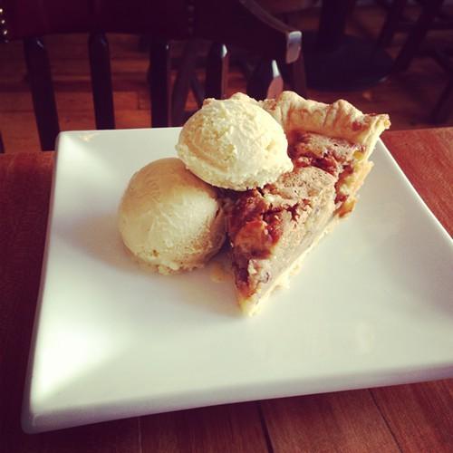 Chipmunk pie a la mode at Duo Bistro