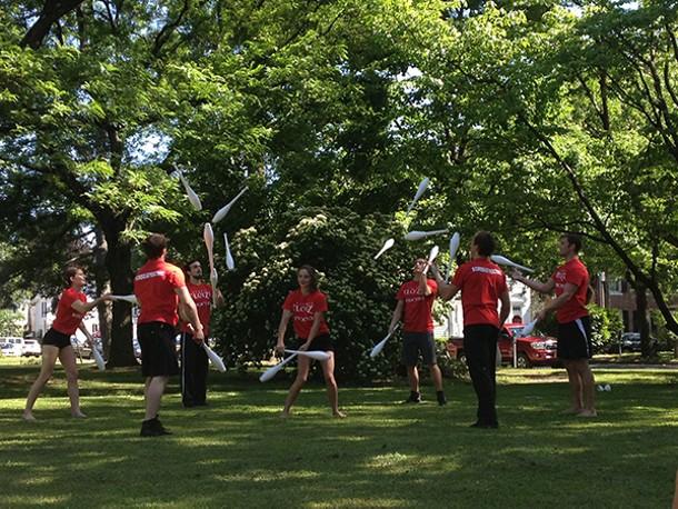 """Cirque Éloize previews their new show """"Cirkopolis"""" at Kingston's Academy Green Park."""