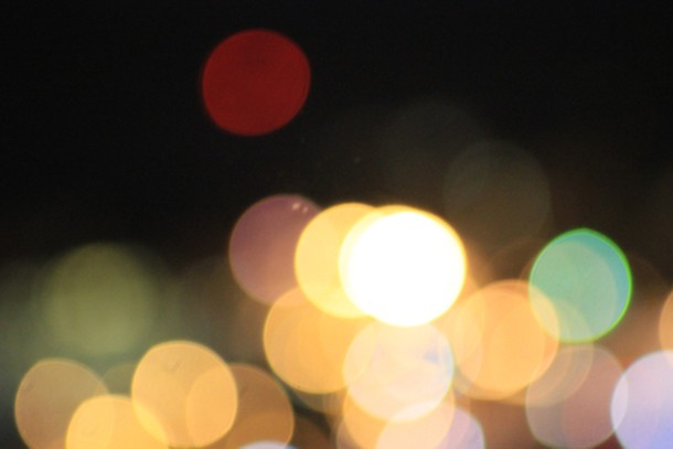 City lights; photo by Amanda Painter.
