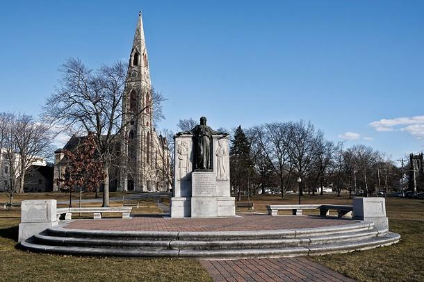 Civil War Memorial in Goshen. - DAVID MORRIS CUNNINGHAM