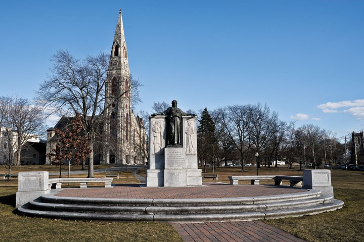 Civil War Memorial in Goshen. - DAVID MORRIS CUNNINGHAM