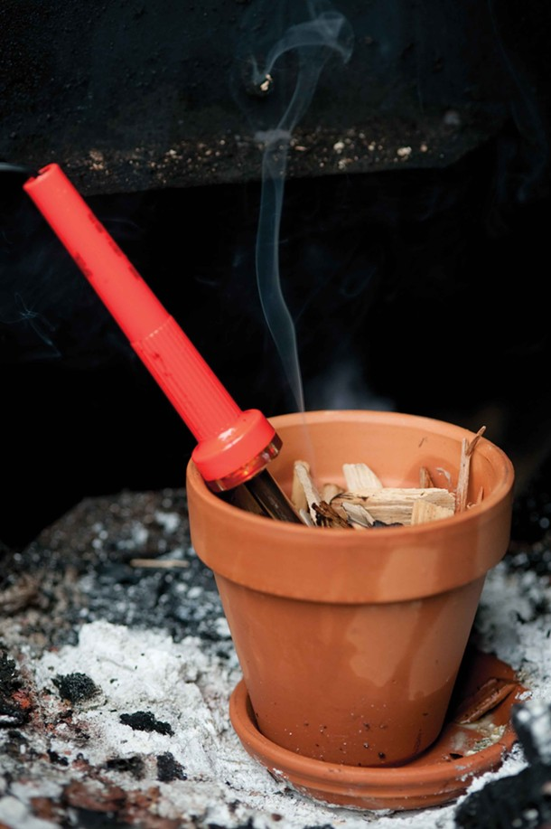 Cold smoking using a soldering iron and wood chips - JENNIFER MAY