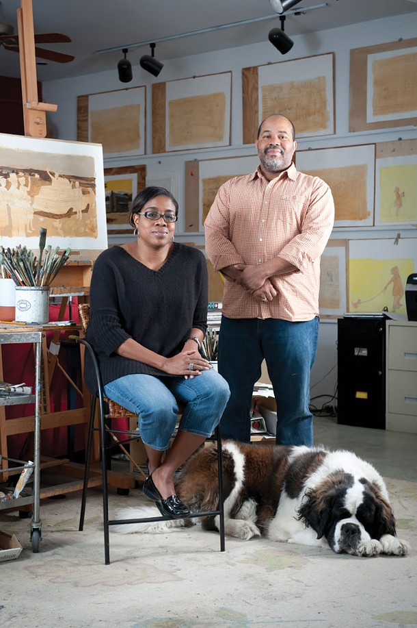 Collaborative couple: illustrator James Ransome and writer Lesa Cline Ransome. - JENNIFER MAY